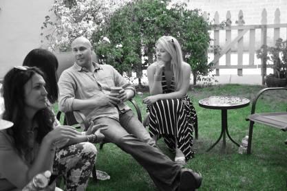 Backyard mingling